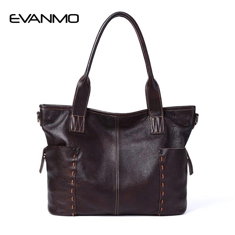 Bags for Women 2018 Soft Casual Tote Bag Genuine Leather Handbag Women's Shoulder Bag Large Designer Handbags High Quality Bags
