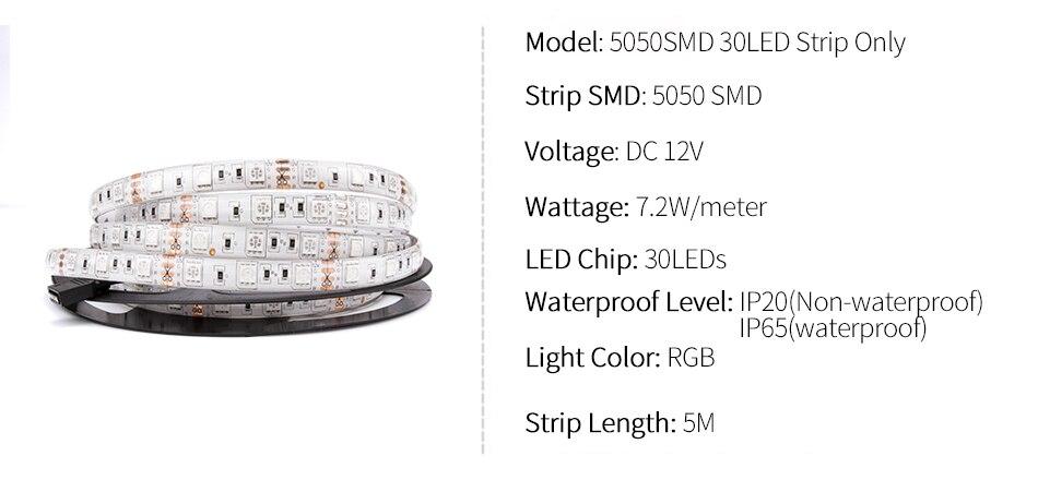 HTB1.E0qaIrrK1RjSspaq6AREXXaJ DC 12V LED Strip Light Flexible Diode Ribbon Tape RGB SMD 2835 5050 44Key Power Remote 5M 10M 15M Full Set Waterproof Lighting