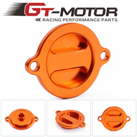 GT Motor-free shipping  Orange Motorcycle CNC Engine Oil Filter Cover Cap For KTM 125 200 390 Duke RC 125 200 390