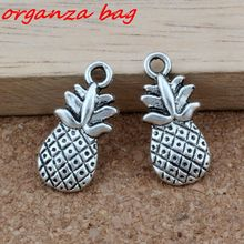 Hot ! 15 Pcs  Antique Silver Alloy pineapple Charms DIY Jewelry 9x19mm nm344
