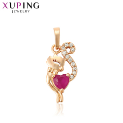 Biżuteria Xuping naszyjnik wisiorek wzór ze zwierzętami New Arrival styl wisiorka kobiety moda na Halloween prezenty 30928