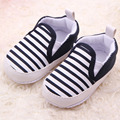 2017 Striped Baby First Walker Unisex Baby Girls Boys Loafer Slip on Canvas Infant Sneakers Soft Sole Cribe Shoes Toddlers Shoes