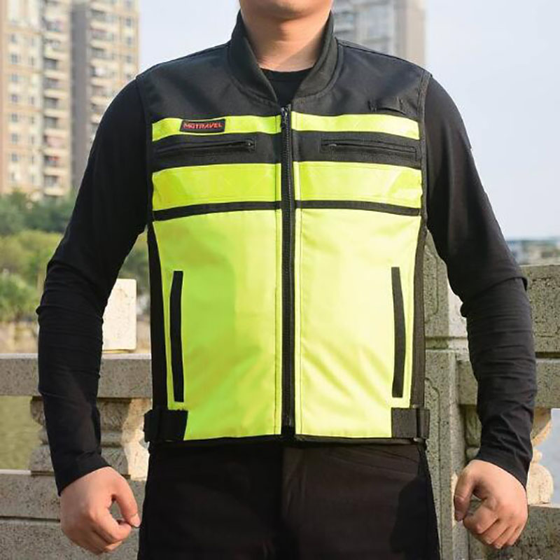 MOTRAVEL Motorcycle Reflective Vest Road Protector Motocross Body Armour Protection Jackets Clothing with Chest/Back Protectors cycling reflective clothing reflective vest safety clothing to road traffic motocross body armour protection jackets