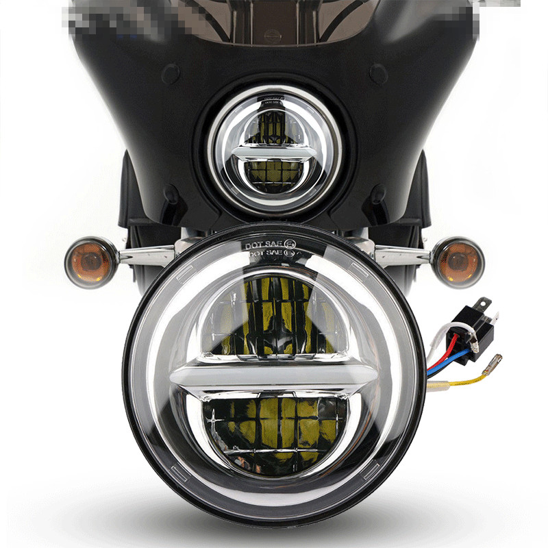 The new model is suitable for Harley 5.75 inch LED headlamp 50W high-brightness far and near-light Harley motorcycle modified he