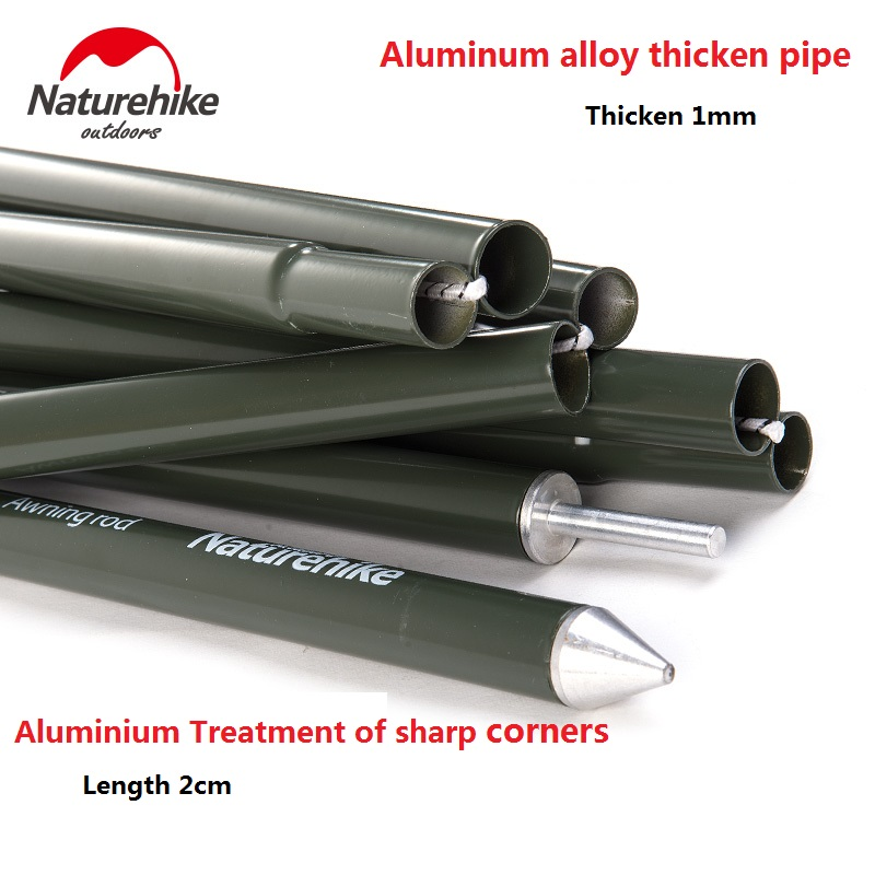 2sets Package Naturehike Factory Store Camping Awning Pole Aluminium Alloy Awning Rod Tent Poles