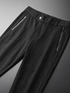 Image 2 - Minglu w pionowe paski męskie spodnie Plus rozmiar 4xl luksusowa miękka przędza barwiona jesień mężczyźni dorywczo spodnie Slim Fit elastyczne spodnie obcisłe mężczyzn