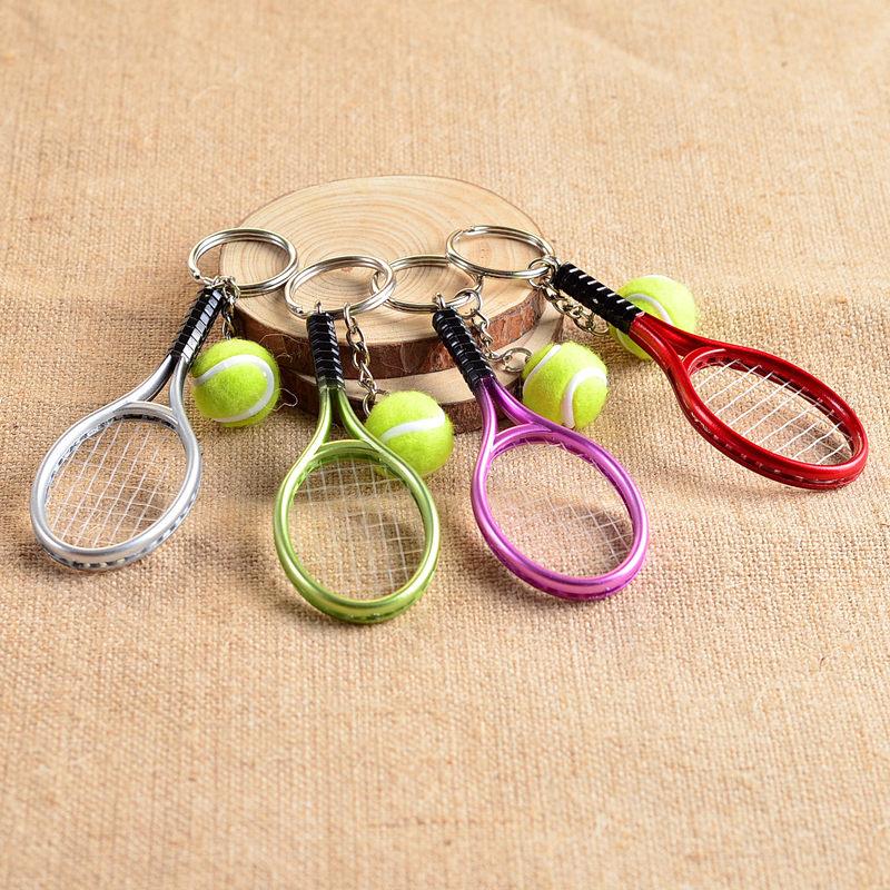 Soccerwe Mini Tennis Rackets Resin Multicolor 6 Colors