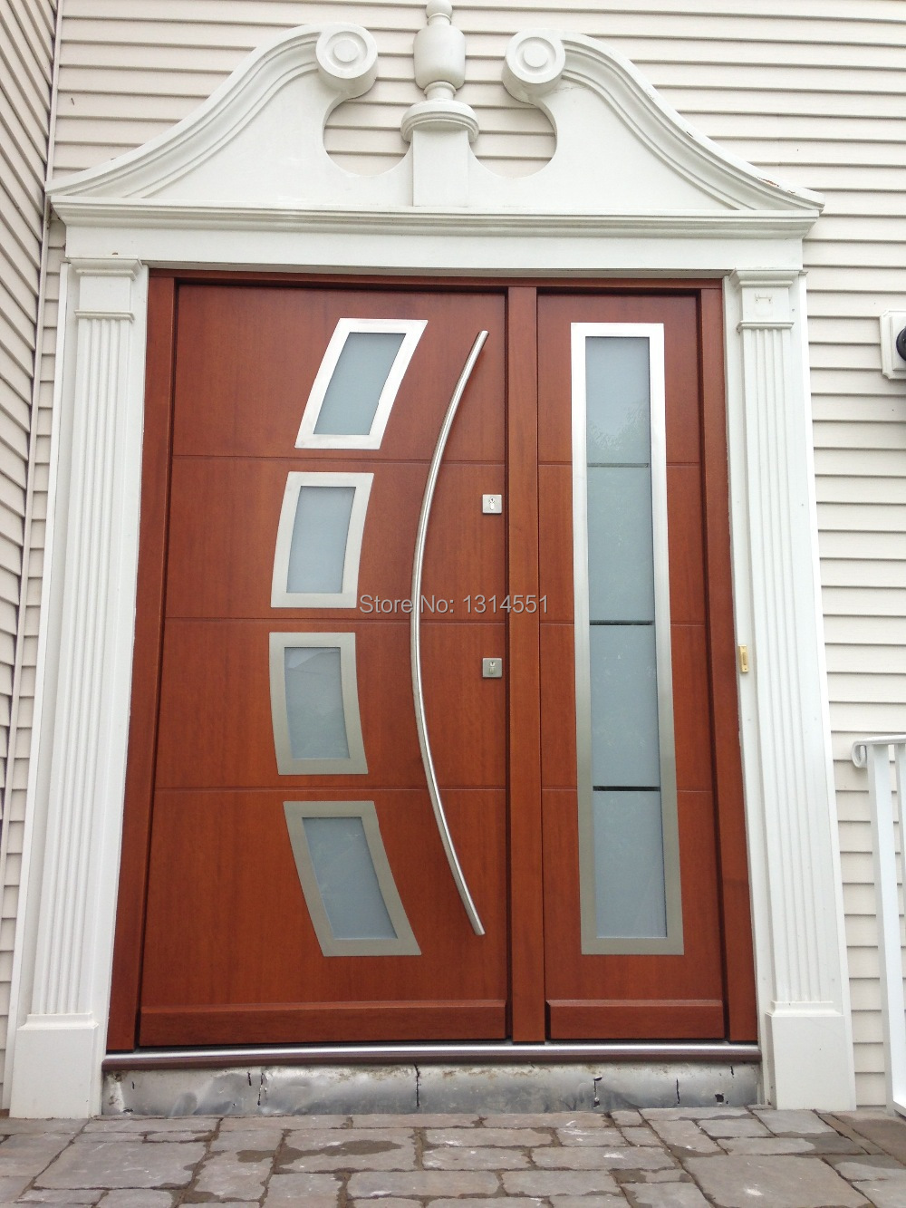 Timber Glass Doors Us 259 Arch Shaped 60 Inches 1500mm Modern Stainless Steel Entrance Entry Office Store Front Wood Timber Glass Door Pull Push Handle In Door