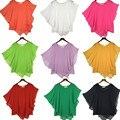 Плюс размер 4XL 5XL 6XL Лето Женщины Шифон блузки Летучая Мышь Рукав шифона рубашки blousas рубашки, 18 цвет vestidos случайный рубашки