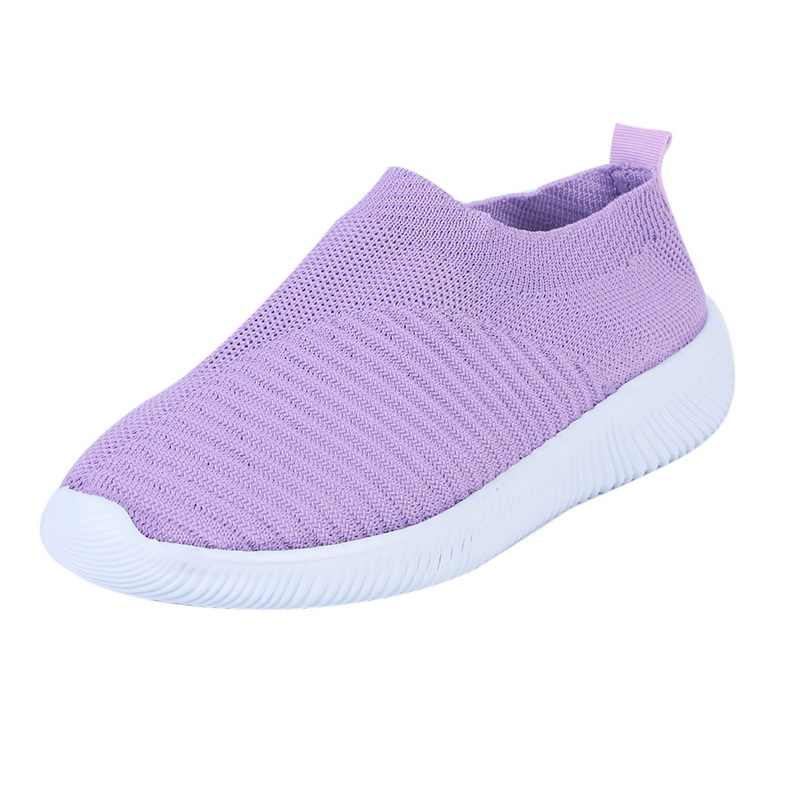 Verano zapatillas transpirables Mujer Treainers Zapatos de punto vulcanizados malla Slip On Sock Sneakers tenis feminino Zapatos Mujer