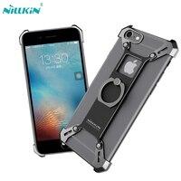Nillkin Bardes DIY אלומיניום פגוש מקרה עבור iphone 6 6 s סגסוגת מקרה כריכה אחורית עבור iphone 6 s fundas עם טבעת מחזיק