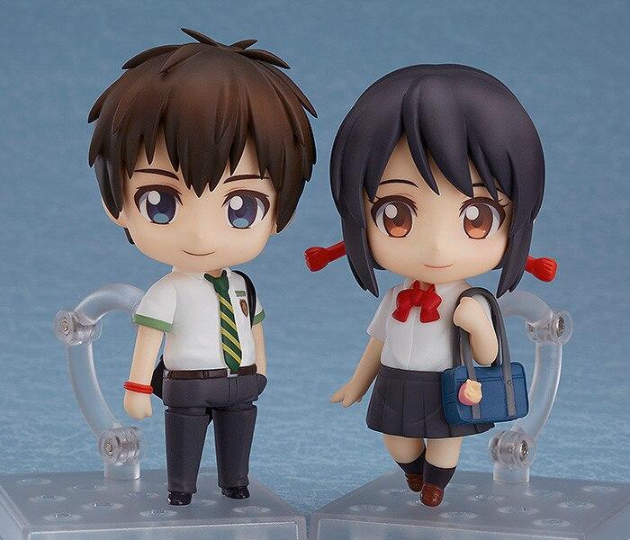 new Anime Movie Your Name Nendoroid Tachibana Taki & Miyamizu Mitsuha PVC Action Figure collection Model Doll Toys Gift 4 10cm anime nendoroid ahri 411 pvc action figure collection toys doll