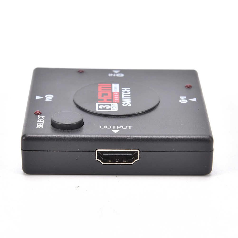 Mini 3 Port HDMI Switch Switcher Splitter 3 Input 1 Output Box HDMI Selector untuk PS4 Smart HDTV 1080 P