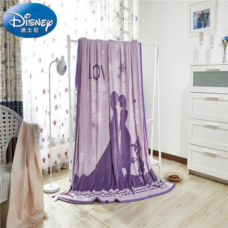 Disney authentique congelé deux couches épaississement couverture jeter pour les enfants sur le lit canapé canapé 200x230 CM poids 2.7Kg.