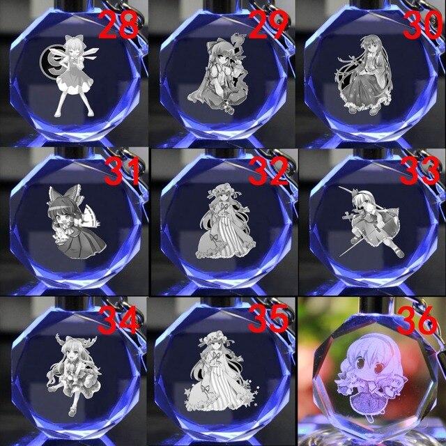 Светодиодный аниме брелок кристалл Touhou Project