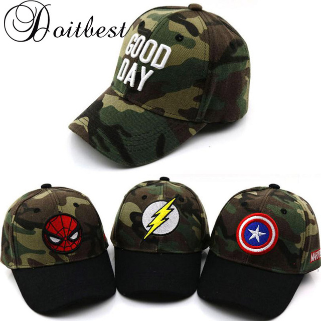 Spring Children cartoon Baseball Cap Camouflage curved summer kids Sun Hat Boys Girls snapback Caps age for 2-9 years old
