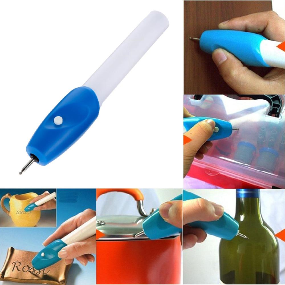 Alta qualità Utili Mini Elettrica Penna Incisione Engraver Macchina Carve Strumento Per Gioielli FAI DA TE In Metallo Vetro Engraver Penna Kit