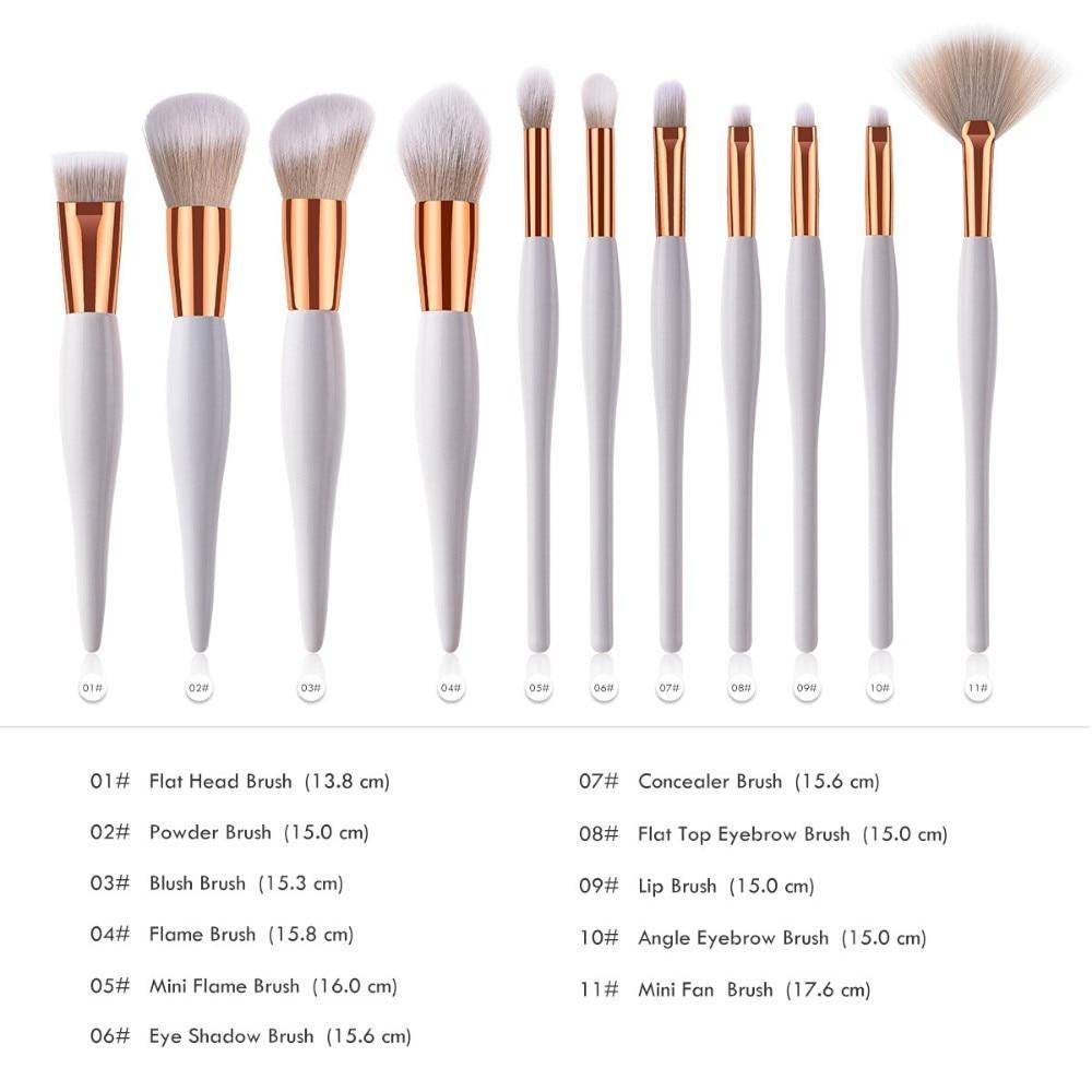 Professional Single Makeup Brushes High Quality Eye Shadow Eyebrow Lip Powder Foundation Make Up Brush Comestic Pencil Brush 1