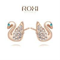 ROXI Fine Jewelry Earing Earring Pendientes Stud earrings 18K Gold Brinco Brand Crystal Earrings Austrian Crystal