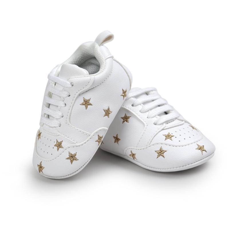 0-18 Bulan Balita Bayi bayi laki-laki Perempuan Crib Sepatu Lembut Sole fashion prewalker