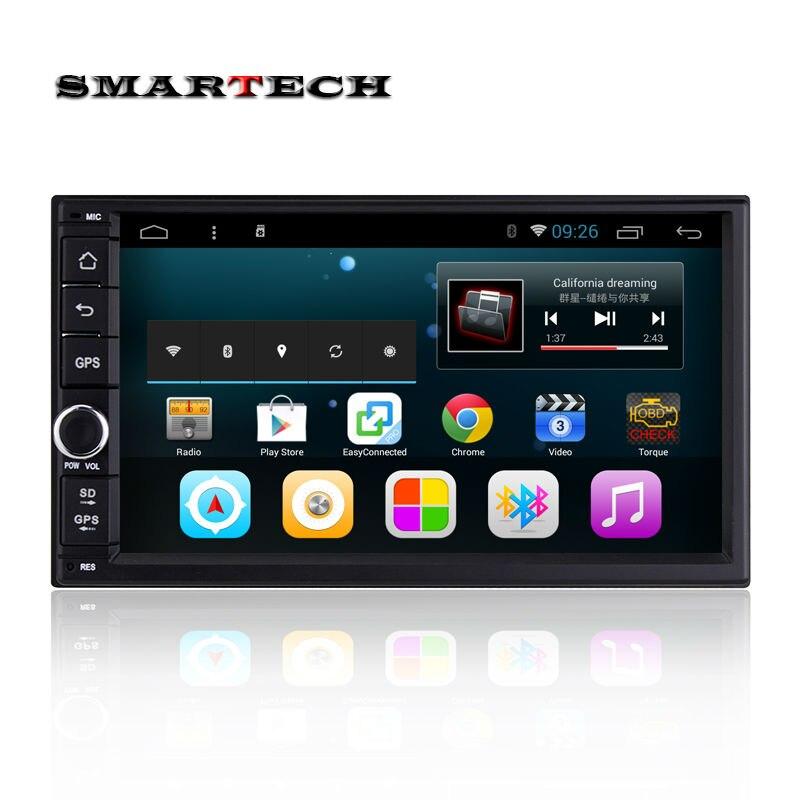 2 din font b android b font 4 4 universal car radio gps navigation Quad core