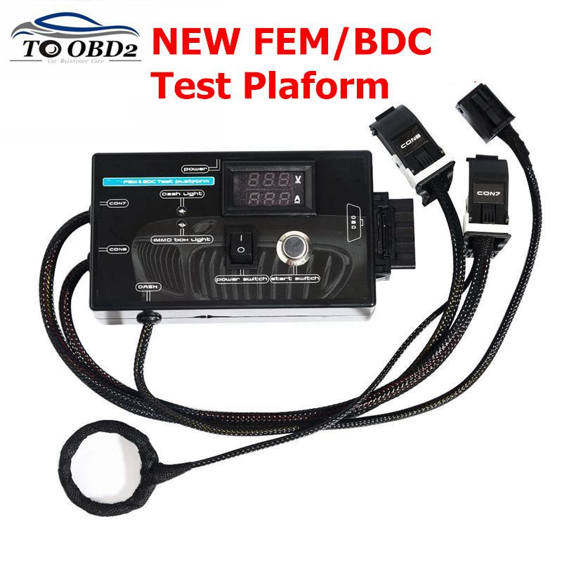 Nouveau Type pour BMW FEM/BDC plate-forme d'essai pour BMW F20 F30 F35 X5 X6 I3 plate-forme d'essai avec étui noir livraison gratuite