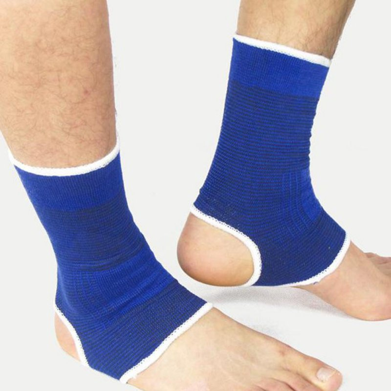 2 Pcs/set Ankle Foot Elastic Compression Wrap Sleeve Bandage Brace Support Protection Sports Relief Pain Foot Outdoor Big Clearance Sale