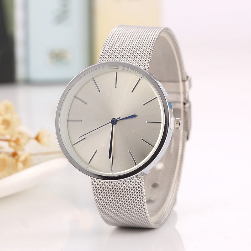 2017 New Famous Brand Silver Casual Geneva Quartz Watch Women Metal Mesh Stainless Steel Dress Watches Relogio Feminino Clock 2016 new famous brand silver watch women casual quartz clock women metal mesh stainless steel dress watches relogio feminino