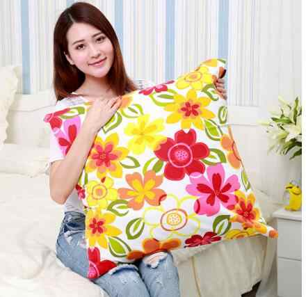 65x65 70x70cm sofa pillowcase cotton fabric large pillow case bed cushion covers flowers printed pillow cover