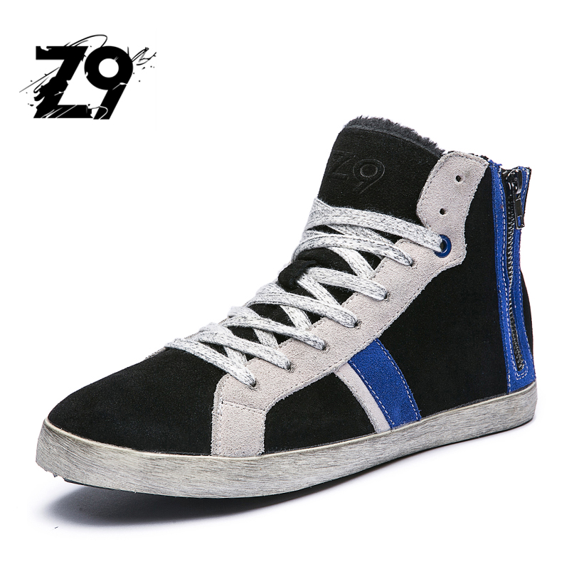 New Men Casual shoes High winter boots Nubuck Leather Men Breathe Shoes Tenis Masculino Male Fashion Autumn Winter mulinsen breathe shoes men