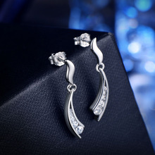 Tassel 925 Sterling Silver long earrings for women fine jewelry Korean Lab Diamond Statement drop earrings Wedding gift
