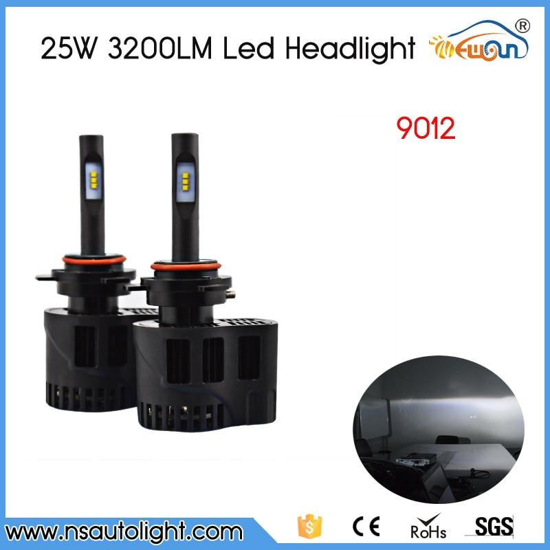 ФОТО All In One Auto Car 9012 Led Headlight Conversion Kit 25W 3200Lm Headlamp Top 12V 24V Bulbs Lamp No Need Ballast Relay