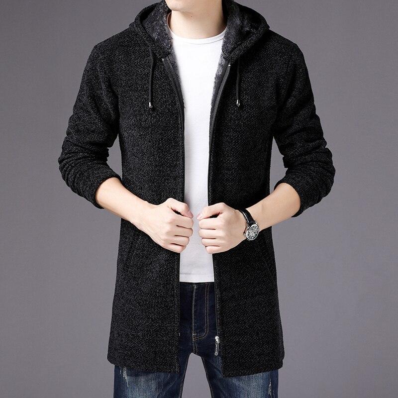 Livraison gratuite 2018 hiver chandail hommes de mode à capuchon chandails tricotés mâle casual Épais chaud Veste Hommes de chandails