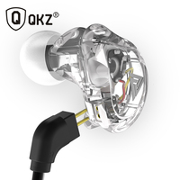 Original QKZ VK1 Colorful 4DD In Ear Earphone Hybrid Headset HIFI Bass Noise Cancelling Earbuds With