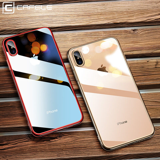 CAFELE Newest plating case for iPhone X Xr Xs Max soft TPU ultra thin Mixed  silicon d4edce370f3