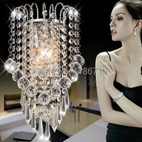High end Crystal wall lamp crystal wall sconce modern wall light contains LED bulb is free shipping
