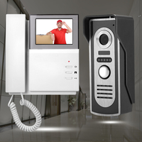 4 3 TFT LCD Video Intercom Doorbell System 1 Phone Receiver Monitor Screen 1 IR Night