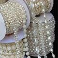 Разноцветные жемчужные бусины Micui 1-5 ярдов  ABS имитация жемчуга  отделка цепочкой для самостоятельного изготовления свадебного платья  кост...