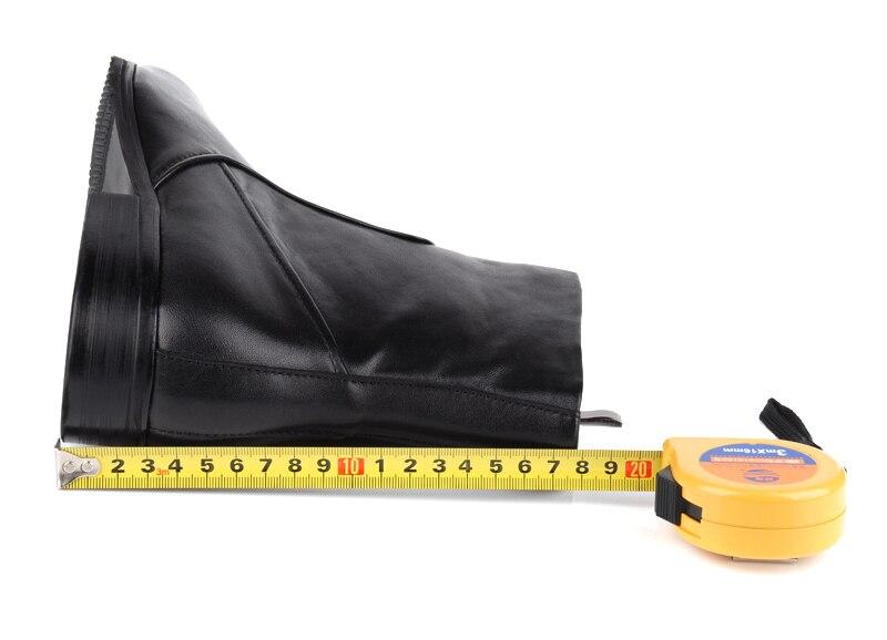 Pie Zapatos Hombre Botas Invierno Cuero Dedo Moda Motocicleta Cremallera Puntiagudo Tobillo Negro Del De Genuino Calidad Para wvYz6ZZ1
