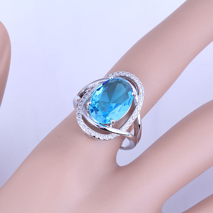 Love Monologue Pretty Blue Sky Crystal & Cubic Zirconia Oval Silver - Mode-sieraden - Foto 2