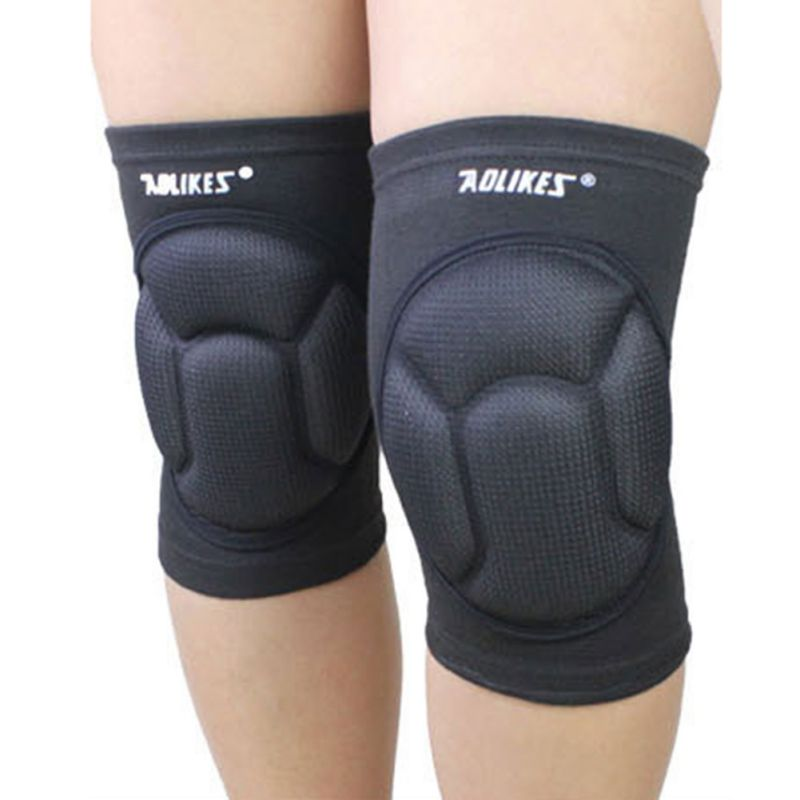 *Mens Thickening Football Volleyball Extreme Sports knee pads brace support Protect Cycling Knee Protector Kneepad ginocchiere