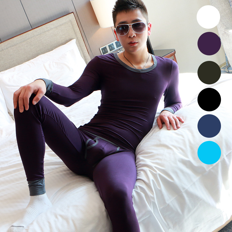 Brand Men Thermal Underwear Sets Cottom Men Underwear Winter Warm Thermal Underwear Men Long Johns Sets