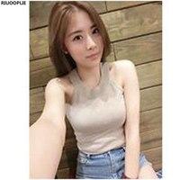 RIUOOPLIE Women Slim Knitting Solid Color Ice Silk Strapless Camisole Tops Female Bodycon Tanks Sleeveless Basic