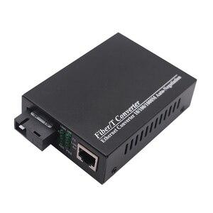 Image 5 - WDM Gigabit Fiber ortam dönüştürücü 1000 Mbps Tek modlu Tek Fiber Optik Alıcı verici Tx1310nm/1550nm SC RJ45