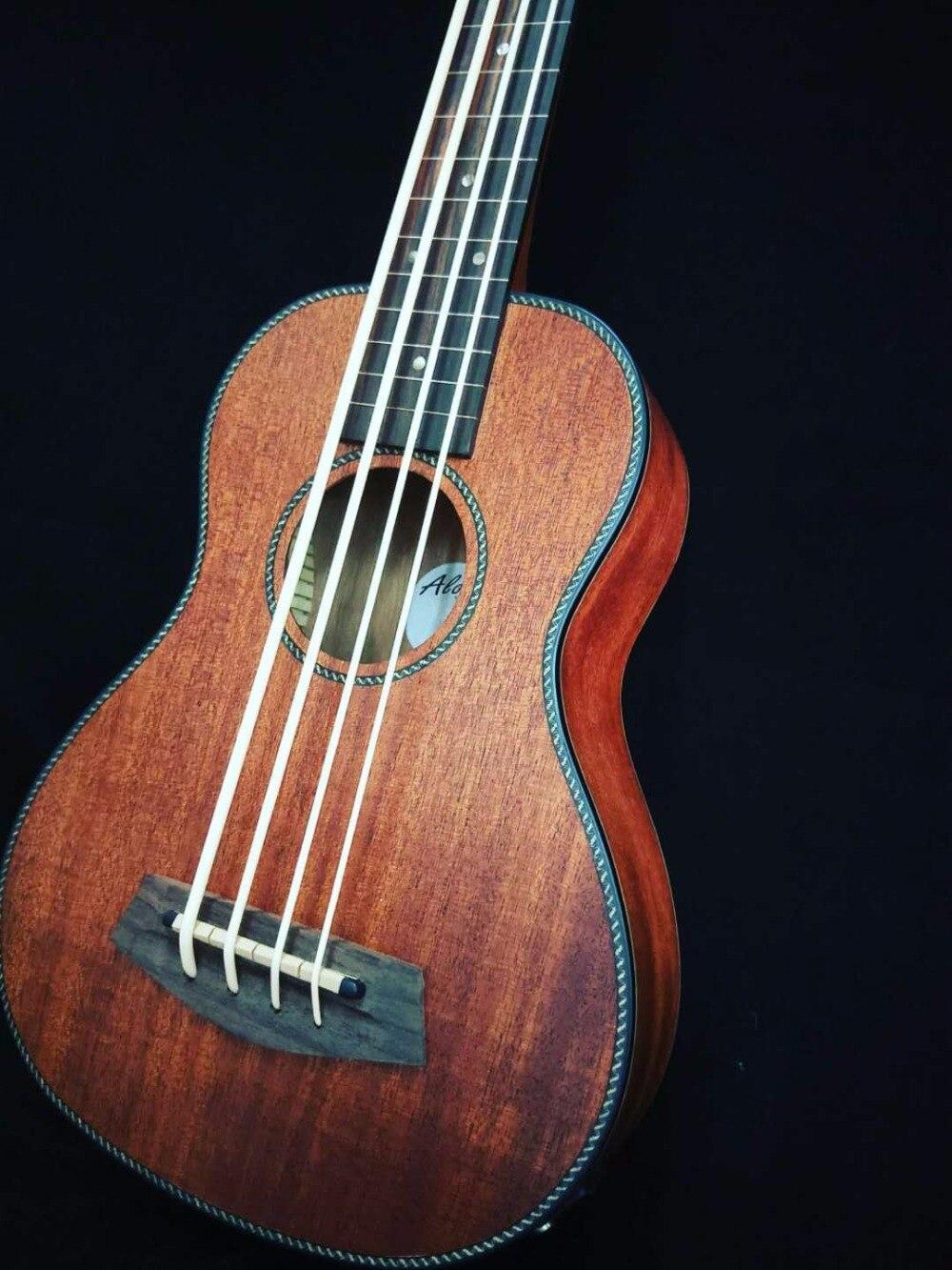 """2018 New + Guitar Factory + 30 Inches Ukulele Bass All Mahogany Body 30"""" Size Ukulele Electric Bass Guitar Super Quality Ukelele"""