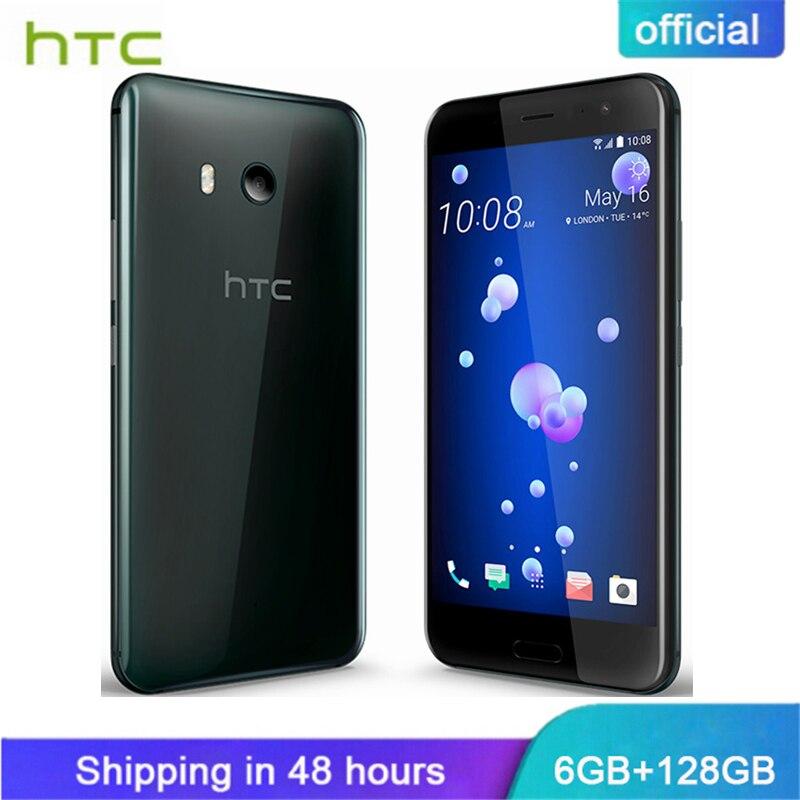 Ufficiale Originale HTC U11 6 gb di RAM 128 gb di ROM Snapdragon 835 IP67 di Impronte Digitali Impermeabile 4g LTE 5.5 pollice 16.0 MP Telefono Mobile