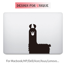цена Cute Llama Laptop Decal Sticker for Apple Macbook Decal Pro Air Retina Touch Bar 11 12 13 15 inch Vinyl Mac HP Surface Book Skin онлайн в 2017 году