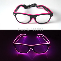 High Quality 10 Colors Choice Sound Active Glowing Holiday Lighting LED Glasses Rave Costume Party DJ