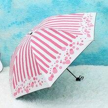 New Sunny and Rainy Umbrella folding Sun Protection Anti UV Parasol Windproof