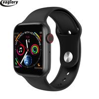 IWO 8 Smartwatch Cheaper Version 44mm Watch Series 4 USB charging Heart Rate Monitor For iphone XS max Huawei Smartphone